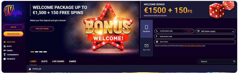 website online casino jvspin