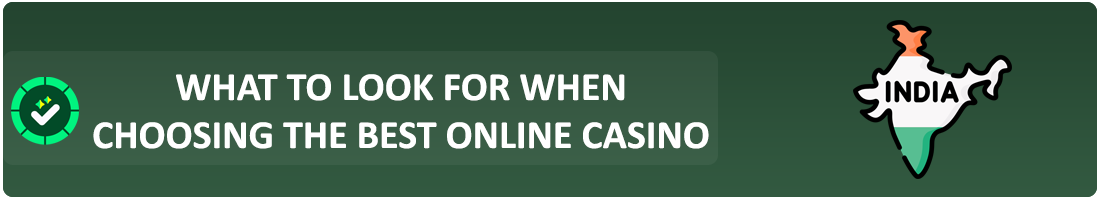 choosing the best online casino india